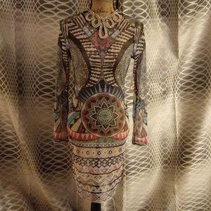 Auditions Tattoo midi dress